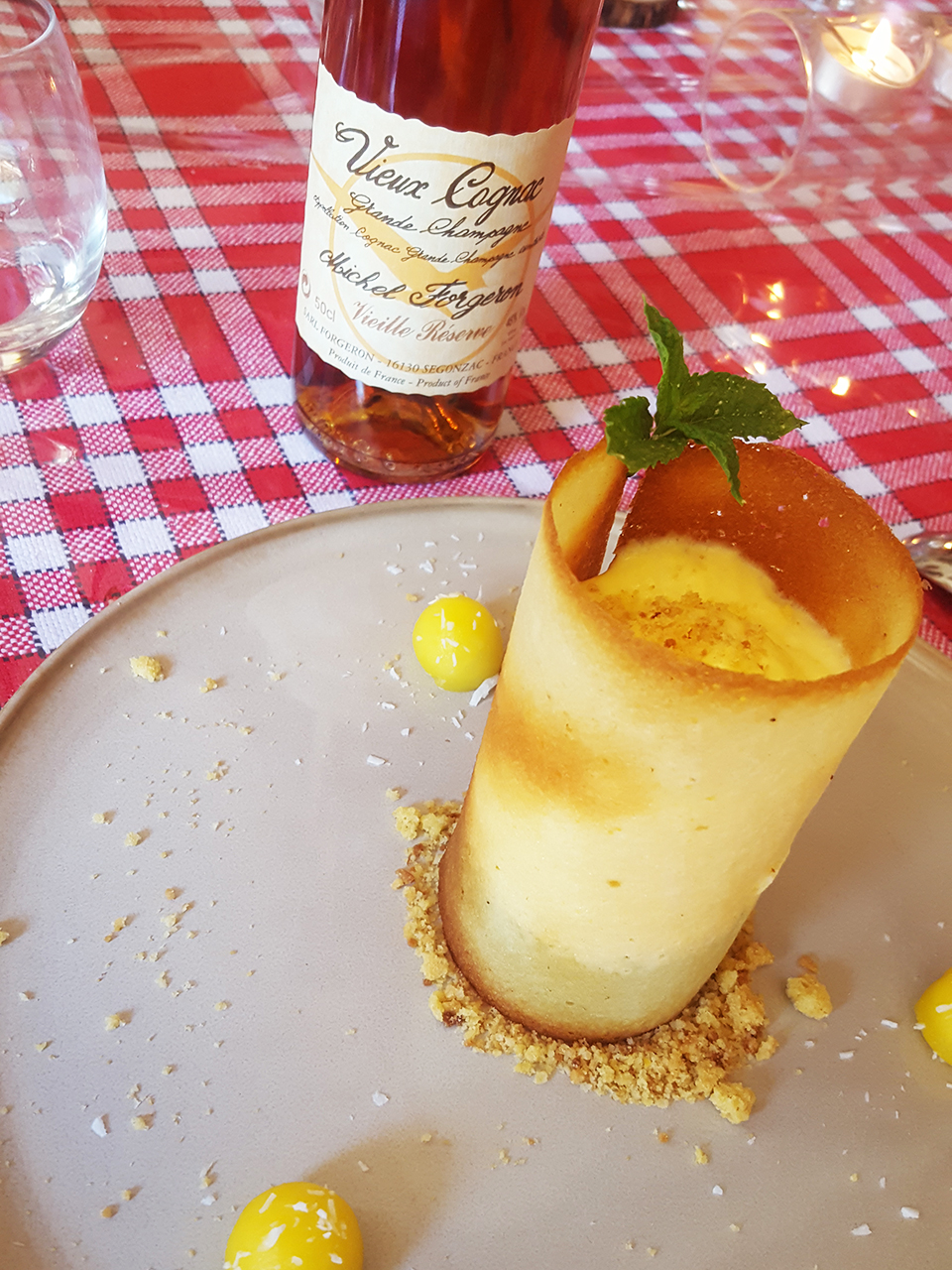 2018 06 26 08 Cognac pairing lunch spassion fruit dessert