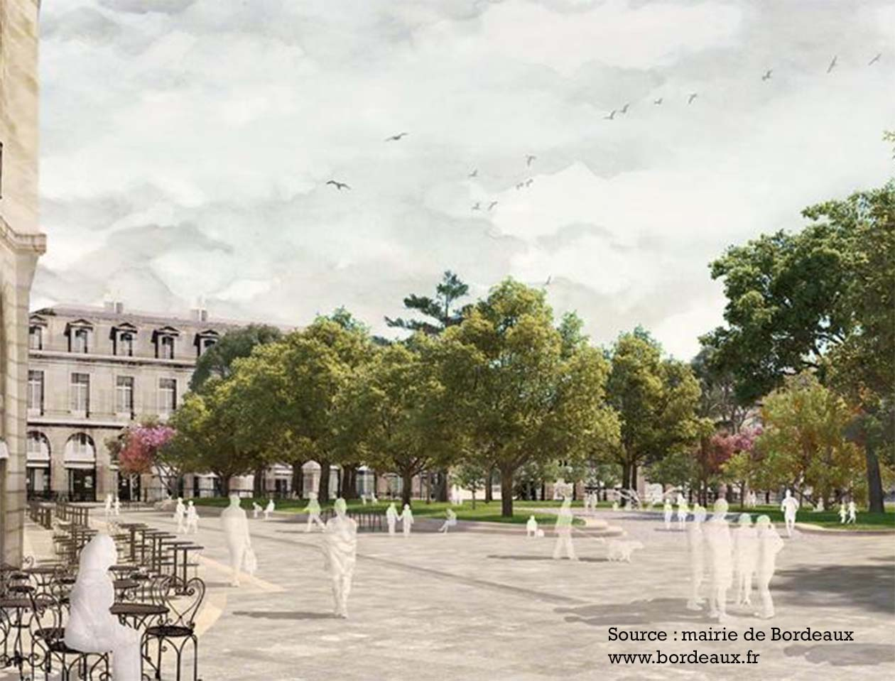 Gambetta square Bordeaux : city project 2020