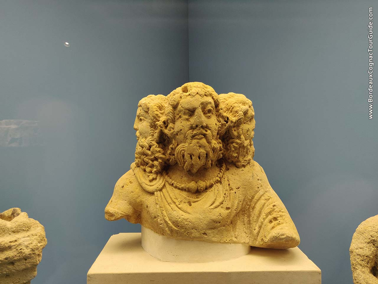 3 headed gallic god -  Cerunnos (Aquitaine Museum, Bordeaux)
