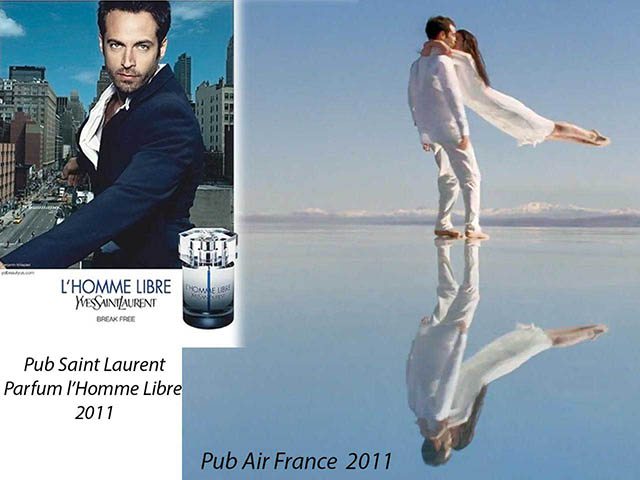 Benjamin Millepied Air France & Saint Laurent ads