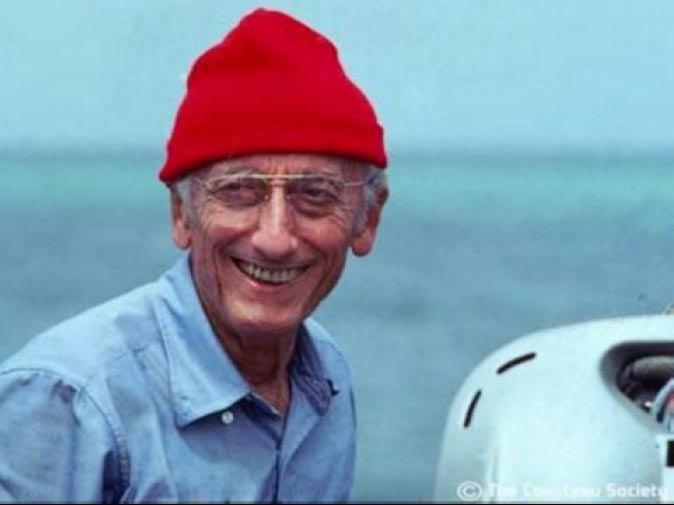 Captain Cousteau, born near Bordeaux