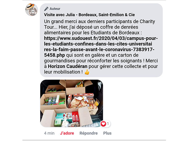 Charity Tour - for confined Bordeaux students