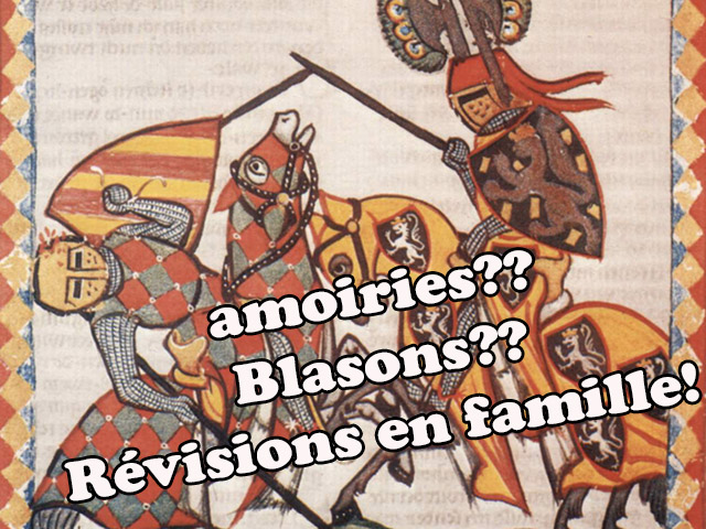 Blasons ou armoiries : si on révisait en famille?