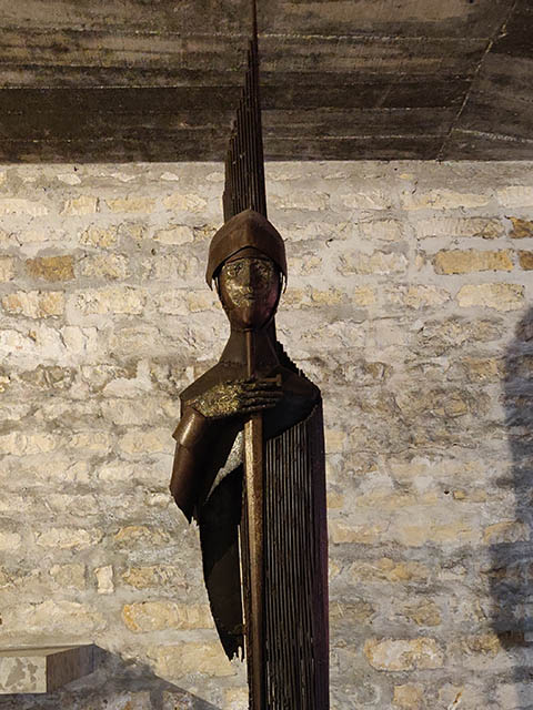 Joan of Arc - Calcinated metal by Jacques Peret